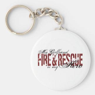 Girlfriend Hero - Fire & Rescue Keychain