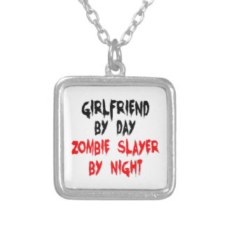 Girlfriend Zombie Slayer Silver Plated Necklace