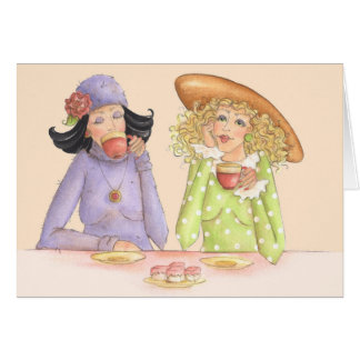 Girlfriends are Sisters - Greeting Card