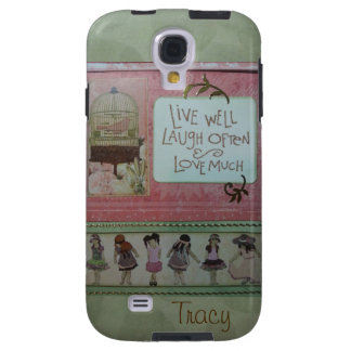 girlfriends quote pinks greens galaxy s4 case