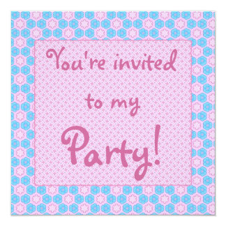"Girlie 5.25"" Square Invitation Card"