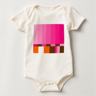 GIRLIE TEST PATTERN BABY BODYSUIT