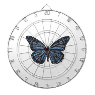 Girlie Vintage Monarch Butterfly Blue Dartboard With Darts