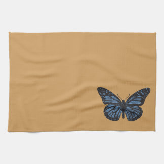 Girlie Vintage Monarch Butterfly Blue Hand Towels