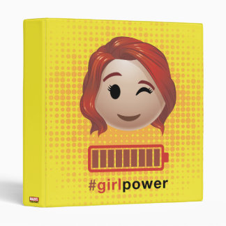 #girlpower Black Widow Emoji Binder