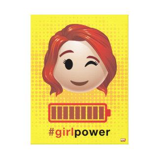 #girlpower Black Widow Emoji Canvas Print