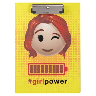 #girlpower Black Widow Emoji Clipboard