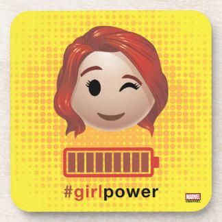 #girlpower Black Widow Emoji Coaster