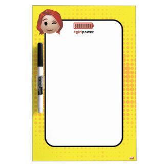 #girlpower Black Widow Emoji Dry-Erase Whiteboards