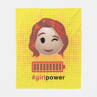 #girlpower Black Widow Emoji Fleece Blanket