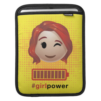 #girlpower Black Widow Emoji iPad Sleeve