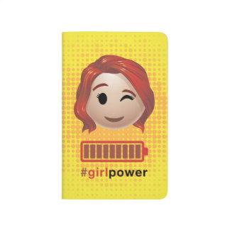 #girlpower Black Widow Emoji Journals