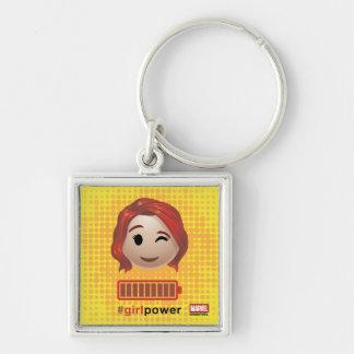 #girlpower Black Widow Emoji Keychain