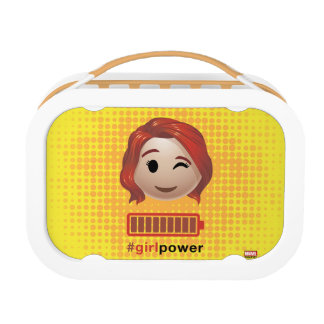 #girlpower Black Widow Emoji Lunch Box