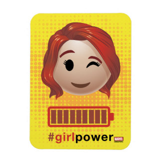 #girlpower Black Widow Emoji Magnet