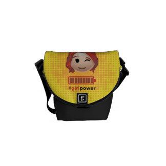 #girlpower Black Widow Emoji Messenger Bags