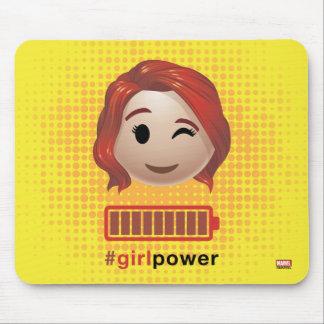 #girlpower Black Widow Emoji Mouse Pad