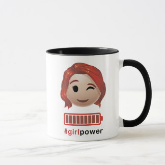 #girlpower Black Widow Emoji Mug