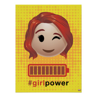 #girlpower Black Widow Emoji Poster