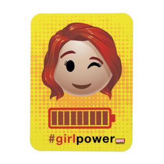 #girlpower Black Widow Emoji Rectangular Photo Magnet
