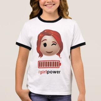 #girlpower Black Widow Emoji Ringer T-Shirt