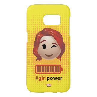 #girlpower Black Widow Emoji Samsung Galaxy S7 Case