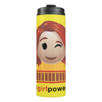 #girlpower Black Widow Emoji Thermal Tumbler