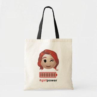 #girlpower Black Widow Emoji Tote Bag