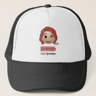 #girlpower Black Widow Emoji Trucker Hat
