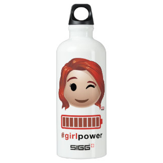 #girlpower Black Widow Emoji Water Bottle