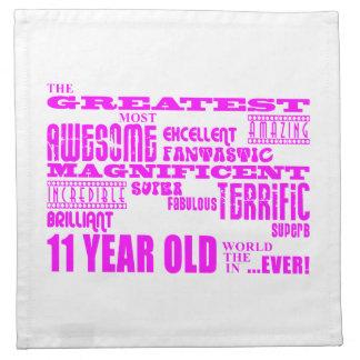Girls 11th Birthdays : Pink Greatest 11 Year Old Napkins