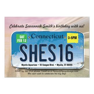Girl's 16th Birthday Connecticut Invitation