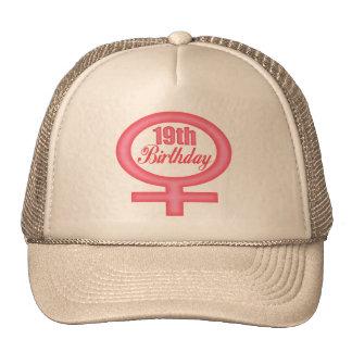 Girls 19th Birthday Gifts Trucker Hat