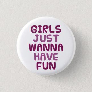 Girls 1 Inch Round Button