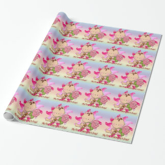 Girl's 1st Valentine's Day Wrapping Paper