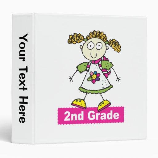 Girls 2nd Grade 3 Ring Binder