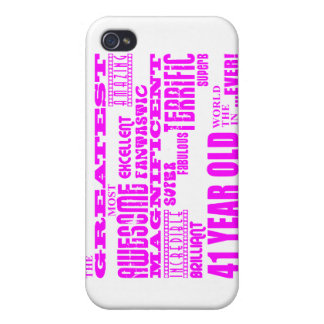 Girls 41st Birthdays : Pink Greatest Forty One iPhone 4/4S Cover
