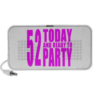 Girls 52nd Birthdays : 52 Today and Ready to Party Notebook Speaker