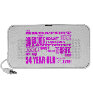 Girls 54th Birthdays Pink Greatest Fifty Four Laptop Speakers