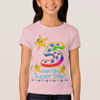 Girls 5 Year Old Super Star Shirt