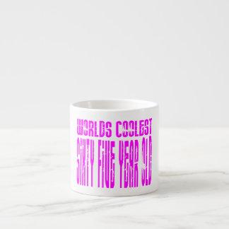 Girls 65 Birthdays Pink Worlds Coolest Sixty Five Espresso Mug