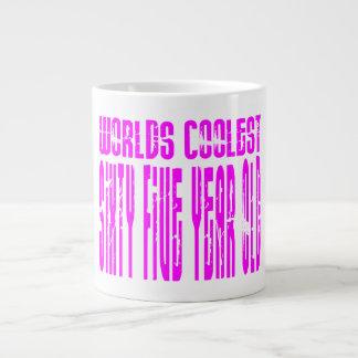 Girls 65 Birthdays Pink Worlds Coolest Sixty Five Jumbo Mug