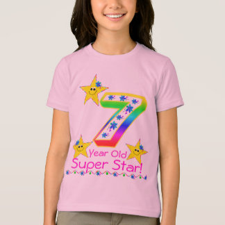 Girls 7 Year Old Super Star Shirt