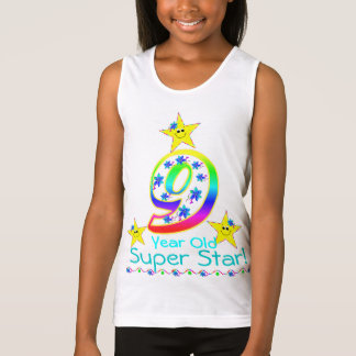 Girls 9 Year Old Super Star Shirt