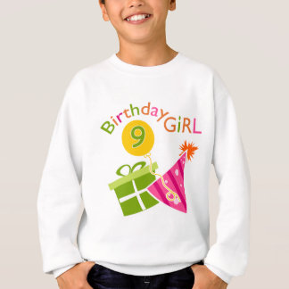 Girls 9th Birthday Sweatshirt