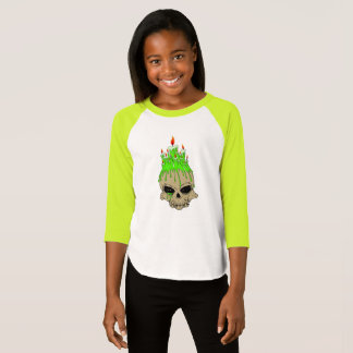 Girls' American Apparel 3/4 Sleeve Raglan TShirt
