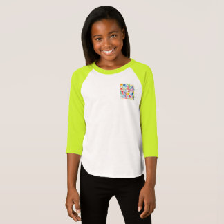 Girls American Apparel Colorful pocket T-Shirt