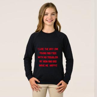 girl's american apparel raylan sweatshirt