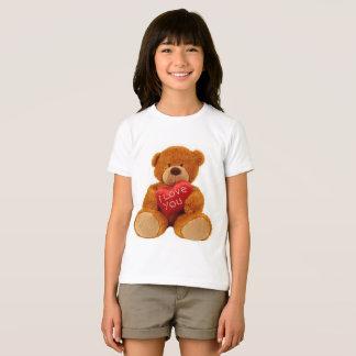 Girls' American fine jersey t-shirt teddy bear