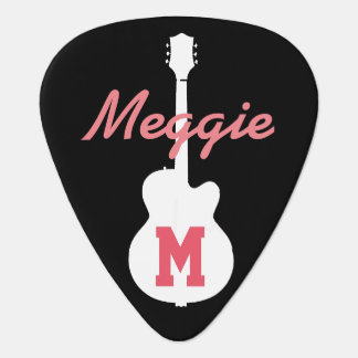 girls and rock music personalized guitar pick
